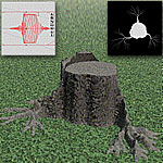 Tree stump, Bryce5 scene